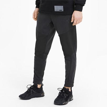 Train Men's Graphic Knit Pants, Puma Black, small