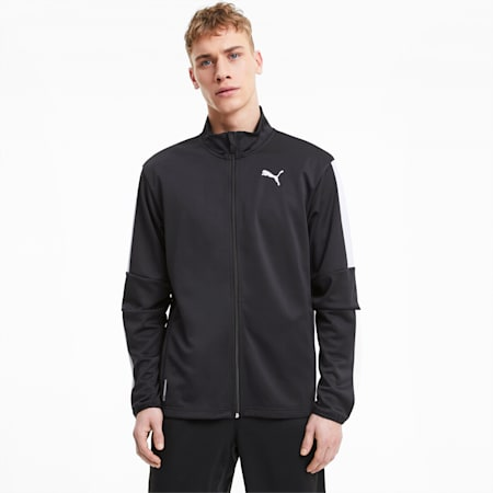 Favourite Blaster Men's Training Jacket, Puma Black-Puma White, small-IND