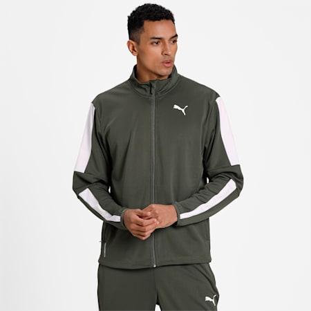 Favourite Blaster Men's Training Jacket, Thyme-Puma White, small-IND