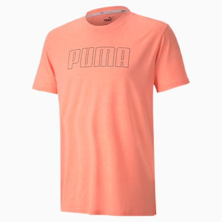 Favourite Heather Graphic Men's Training T-Shirt, Nrgy Peach Heather, small-IND