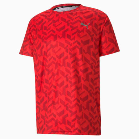 Performance Printed Men's Training Relaxed T-shirt, Poppy Red-AOP Q1, small-IND