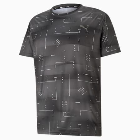 Performance Printed Men's Training Relaxed T-shirt, Puma Black-Q2 AOP, small-IND