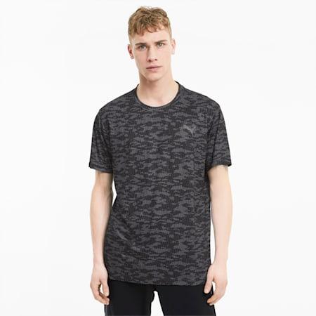 Performance AOP Shirt Sleeves Men's T-Shirt, Puma Black-Camo AOP, small-IND