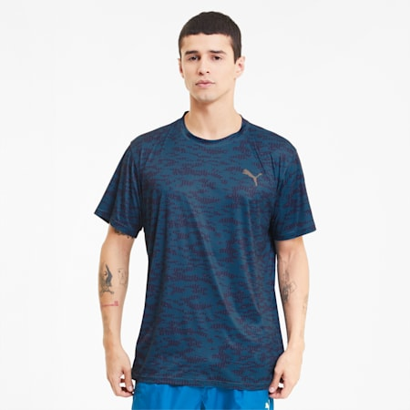 Performance Printed Men's Training Tee, Digi-blue-Camo AOP, small-SEA