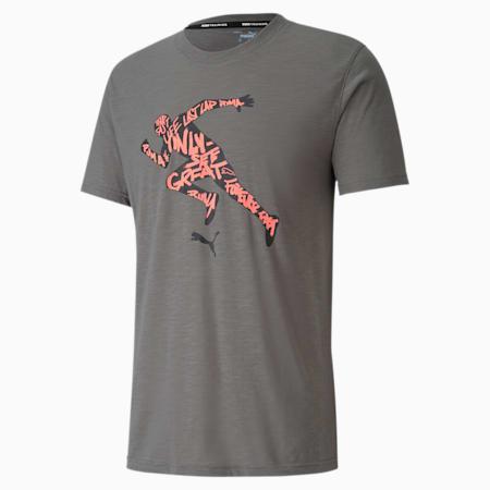 Performance Graphic Short Sleeve Men's Training Tee, Ultra Gray-OSG Runner, small-SEA
