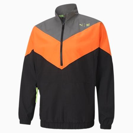 PUMA x FIRST MILE Xtreme Men's Training Jacket, Ultra Gray-Ultra Orang-Black, small