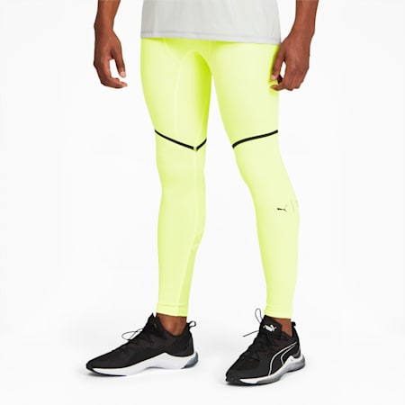 PUMA x FIRST MILE Xtreme EXO-ADAPT Men's Training Tights, Fizzy Yellow, small