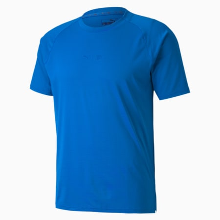 T-Shirt de sport à manches courtes First Mile Mono homme, Lapis Blue, small