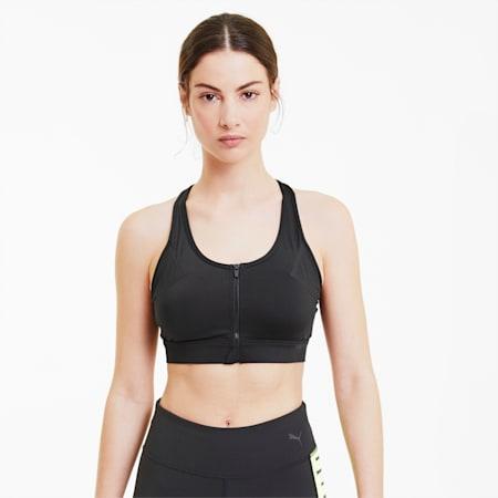 Soutien-gorge de sport High Impact Front Zip femme, Puma Black, small