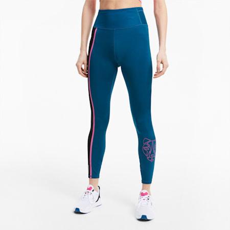 High Rise 7/8 Women's Training Leggings, Digi-blue, small-SEA