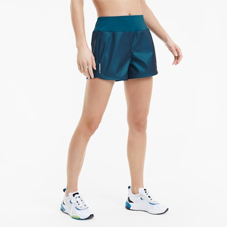 "Shimmer 4"" Women's Training Shorts, Digi-blue, small"