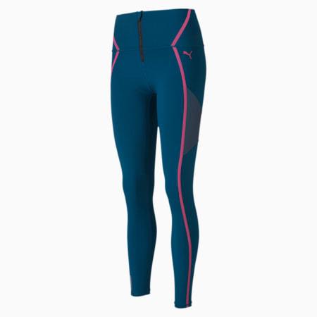 Train Women's Bonded High Waist Zip Leggings, Digi-blue, small