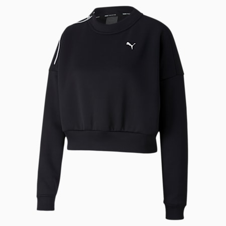 Brave Zip dryCELL Women's Training Sweater, Puma Black, small-IND