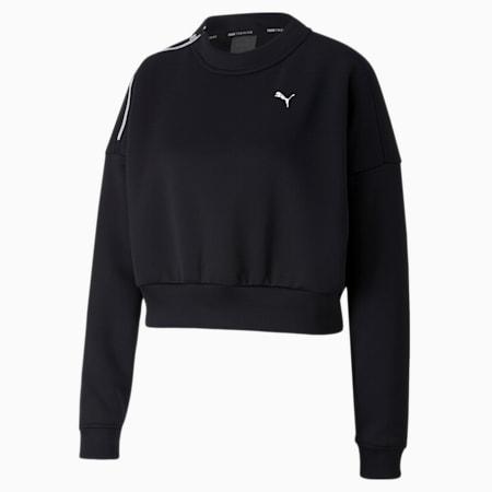 트레인 브레이브 집 크루/Train Zip Crew Sweatshirt, Puma Black, small-KOR