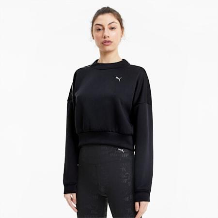 Brave Zip dryCELL Women's Training Sweat Shirt, Puma Black, small-IND
