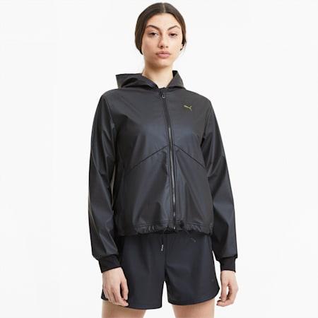 Train Warm Up Women's Shimmer Jacket, Puma Black, small