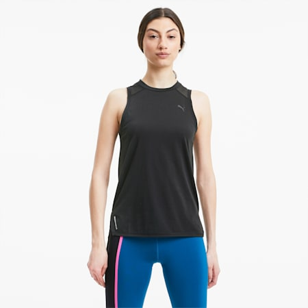 Mesh Panel Women's Training Tank Top, Puma Black, small-GBR