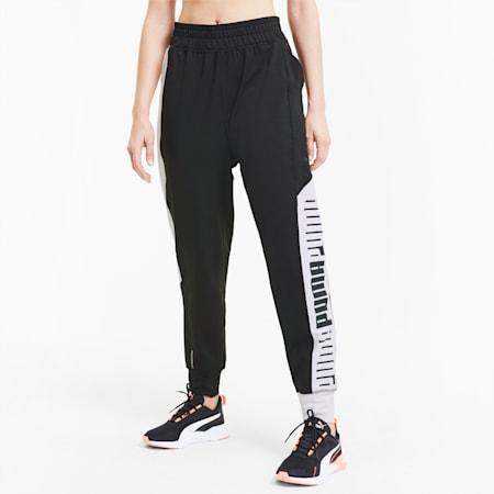 Pantalones deportivos con tejido elástico Train para mujer, Puma Black-Puma White, pequeño