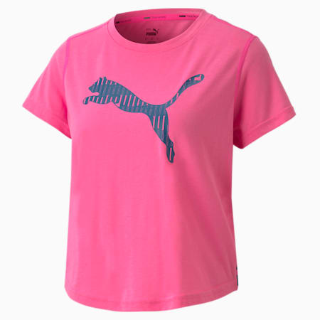 Train Women's Logo Tee, Luminous Pink, small