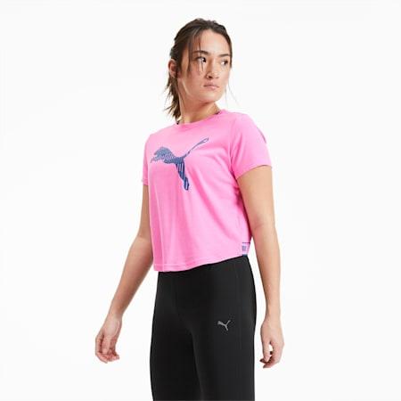 Logo Short Sleeve Women's Training Tee, Luminous Pink, small