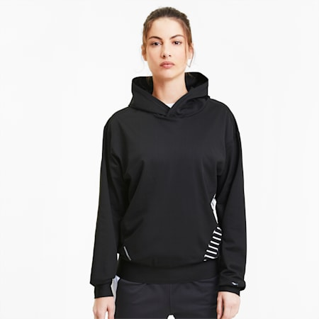Train Stretch Knit Women's Hoodie, Puma Black, small