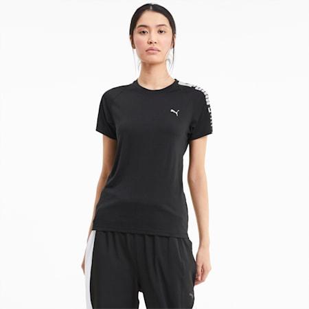 Logo Raglan Women's Training T-Shirt, Puma Black-Q3, small-IND
