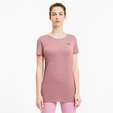 T-Shirt Studio Lace Keyhole Training pour femme, Foxglove, small