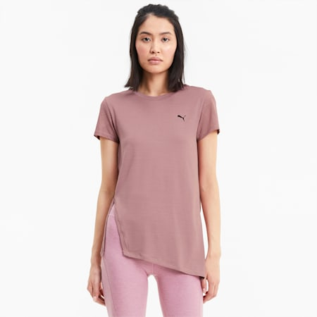 Studio Lace Short Sleeve Women's Training Tee, Foxglove, small