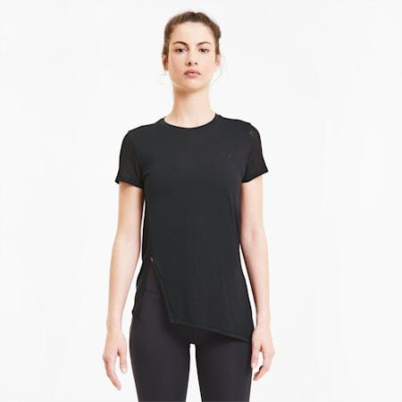 Studio Lace Short Sleeve Women's Training Tee, Puma Black, small