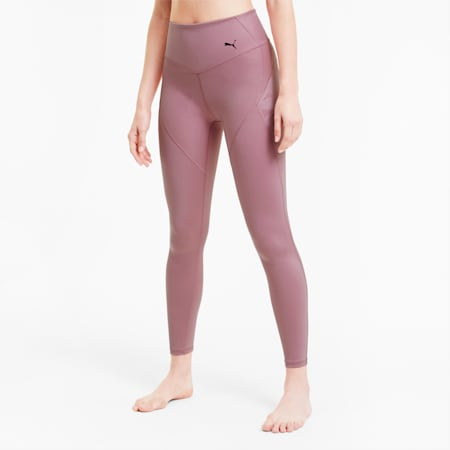 Studio Porcelain Full Length Women's Training Leggings, Foxglove, small