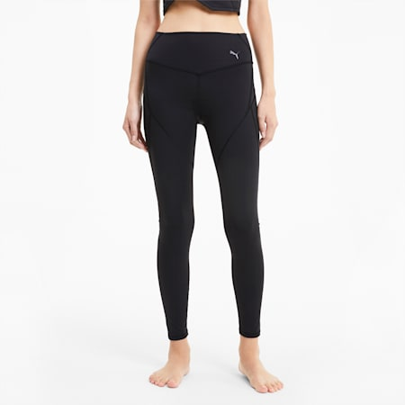Studio Porcelain Full Length Women's Training Leggings, Puma Black, small