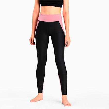 Studio Lace High Waist dryCELL Women's Training Leggings, Puma Black-Foxglove, small-IND