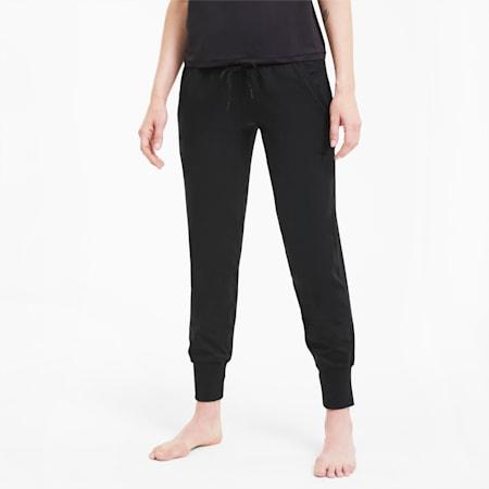 Damskie dzianinowe spodnie treningowe Studio Yogini Luxe, Puma Black, small