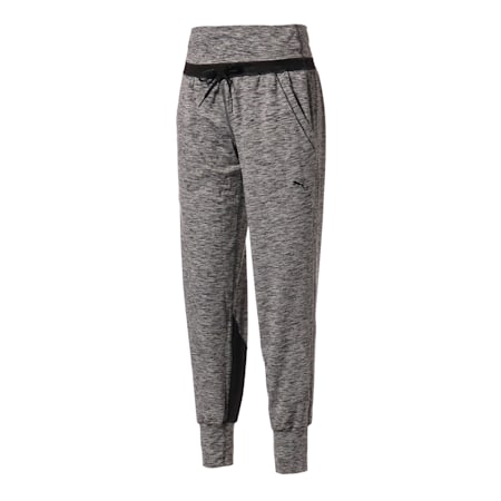 Studio Yogini Luxe Knitted Women's Training Pants, Dark Gray Heather, small-SEA