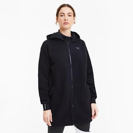 Studio Women's Sherpa Jacket, Puma Black, small