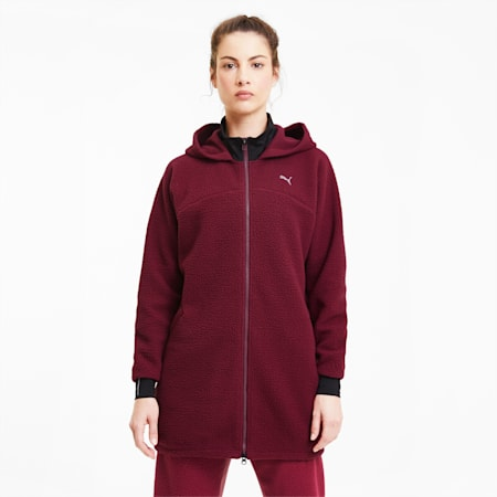 Studio Sherpa dryCELL Women's Training Jacket, Burgundy, small-IND