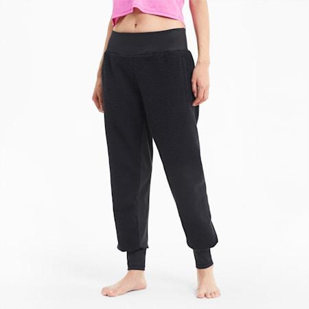 Studio Sherpa Women's Knit Pants, Puma Black, small