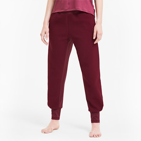 Studio Sherpa Knitted dryCELL Women's Training Pants, Burgundy, small-IND