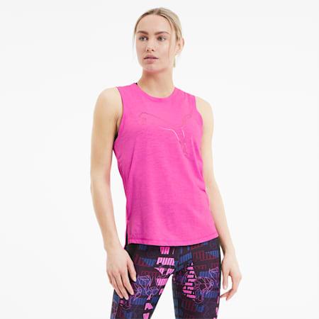Canotta da training da donna Favourite Cat Muscle, Luminous Pink, small
