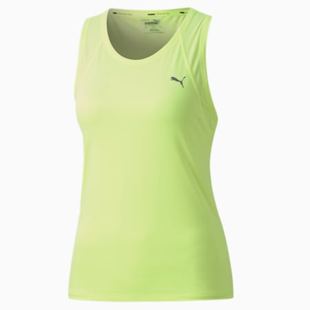 Favourite Racerback Women's Training Tank Top, Fizzy Yellow, small-IND