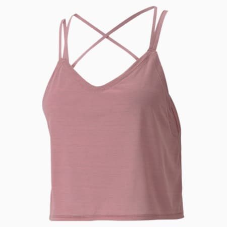 Studio dryCELL Women's Strappy Training Tank Top, Foxglove-Heather, small-IND