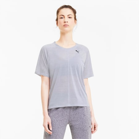 Studio dryCELL Relaxed Fit Women's T-Shirt, Puma White-Heather, small-IND