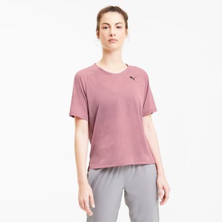 Studio Relaxed dryCELL Women's T-Shirt, Foxglove-Heather, small-IND