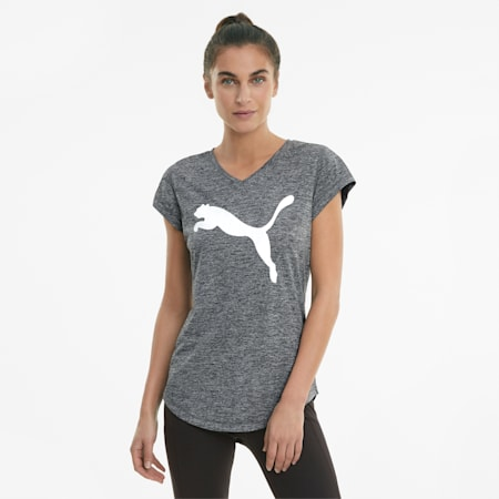 T-shirt da allenamento Favourite Heather Cat donna, Puma Black Heather, small