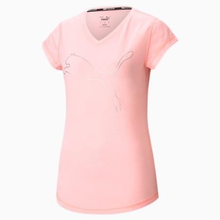 Favourite Heather Cat sportshirt dames, ElektroPeachHtherCat outline, small