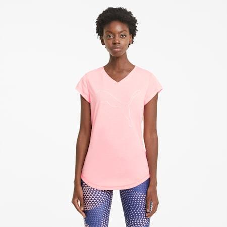T-shirt da allenamento Favourite Heather Cat donna, ElektroPeachHtherCat outline, small