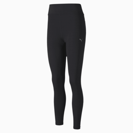 Favourite Solid High Rise 7/8 Women's Training Leggings, Puma Black, small-SEA