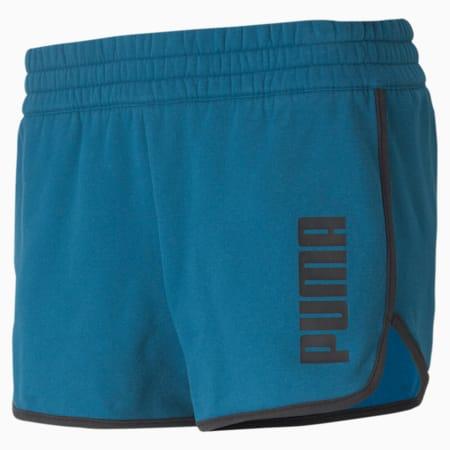 Train Favorite Women's Fleece Shorts, Digi-blue Heather, small