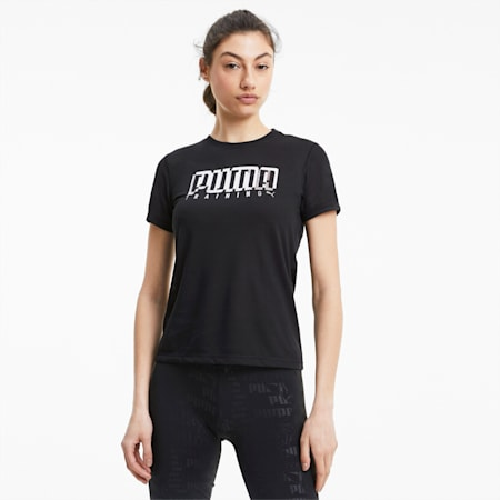 Performance Branded dryCELL Women's Training T-Shirt, Black-Wht/Silver Puma Train, small-IND