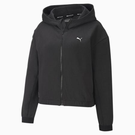Favourite Fleece Full-Zip Women's Training Hoodie, Puma Black, small